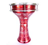SWP Darbuka 17cm - Engraved Red
