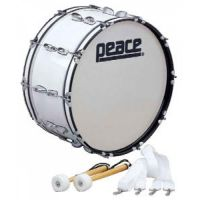 Peace Marching Bass Drum 22x10 White